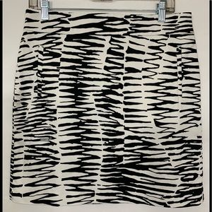 Banana Republic Zebra Print Pencil Skirt Size 10